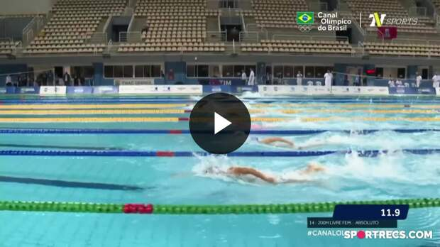 Aline Rodrigues vence, mas não alcança índice olímpico nos 200m Livre Feminino - Dia 3 do Pré-Olímpico de Natação (21/04/2021)