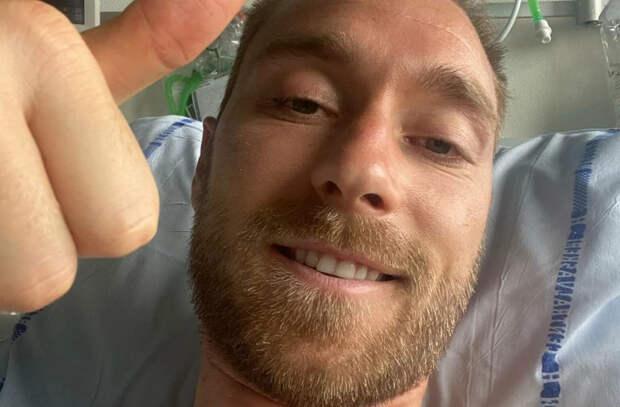 Эриксен показал фото из больницы и обратился к болельщикам