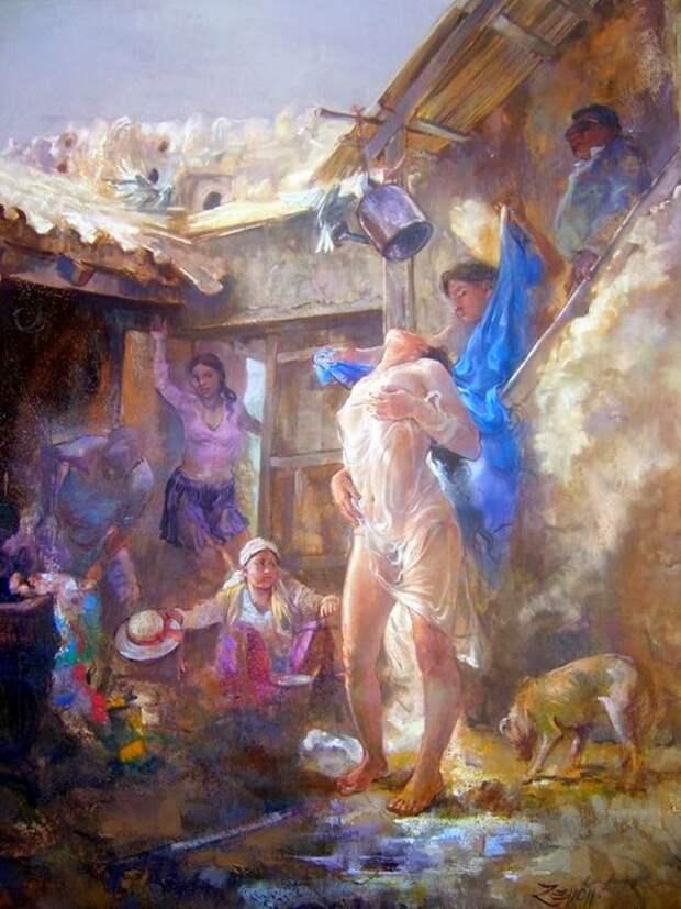 Боливийский художник. Zenon Sansuste Zapata