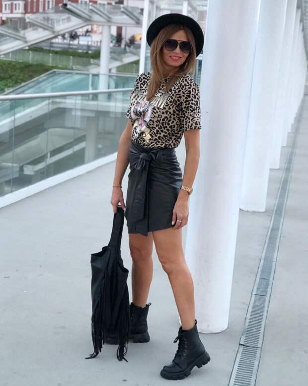 С чем носить леопардовый принт осенью: 12 изысканных и элегантных идей