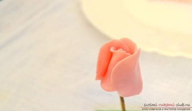 Ободки из полимерной глины с бутонами розм - мастер-класс и ободок с цветами. Фото №5