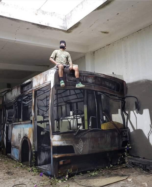 Нарисованный автобус
