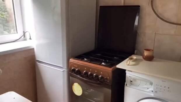 Прекрасная перепланировка крошечной кухни 5 кв. м.