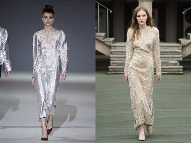 Новогодние платья с блестками и пайетками 2017