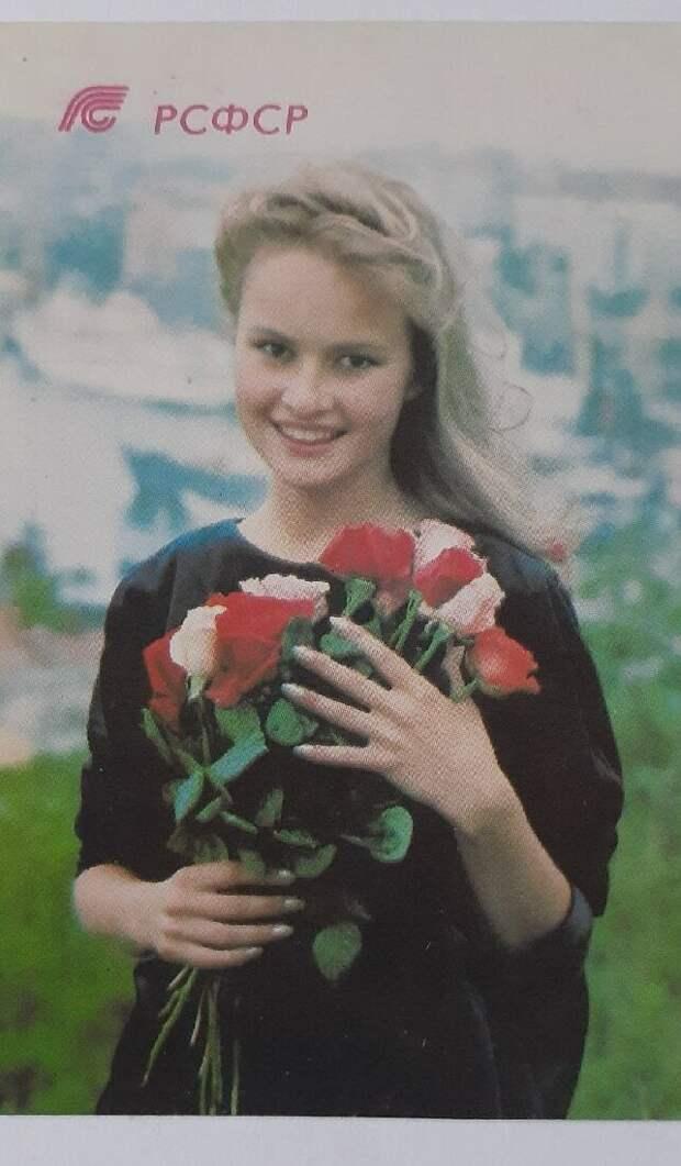 Красотка, календарик за 1991 год. Фото: автора.