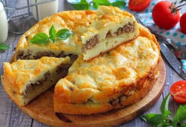 Пирог с мясом «Быстро и легче не бывает». Тесто за 10 минут