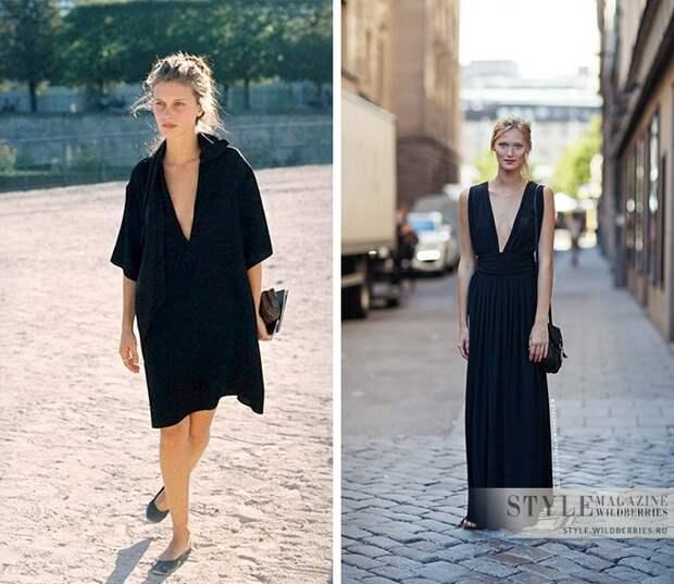 Летние платья в черном цвете