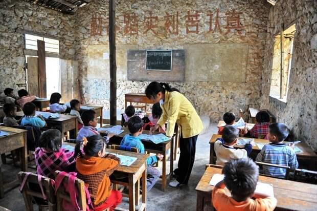 Как насчёт вот таких школ, без всяких удобств? И это реальная школа в современном Китае прикол, школа, юмор