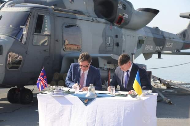 Украина подписала документ с Великобританией о строительстве двух военных баз