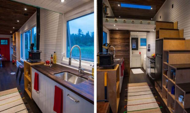 Greenmoxie Tiny House. Кухня.