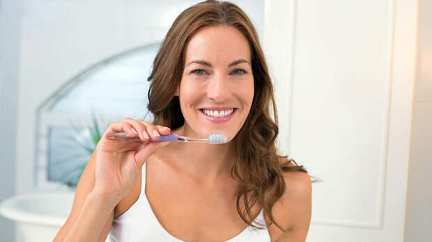 Массаж зубной щёткой