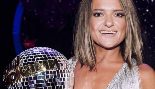 Наталья Могилевская с кубком Танцев со звездами