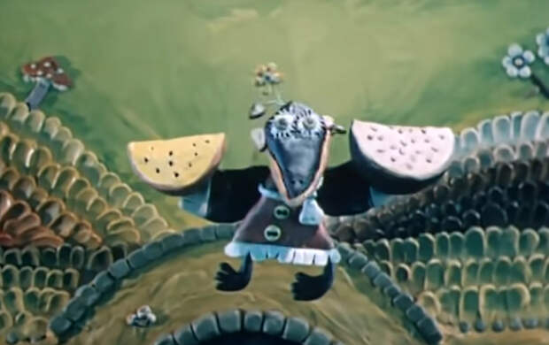 Кадр из мультфильма «Пластилиновая ворона»
