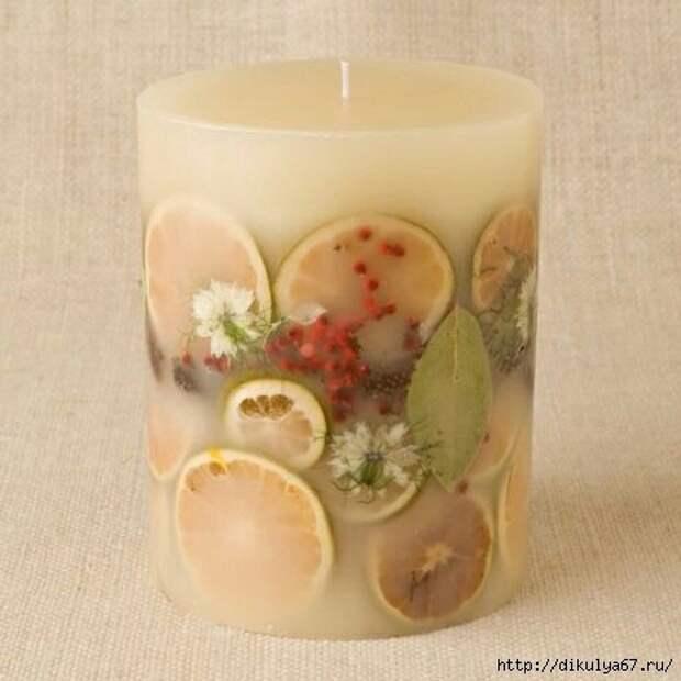 Фруктовое - цветочные свечи как подарок