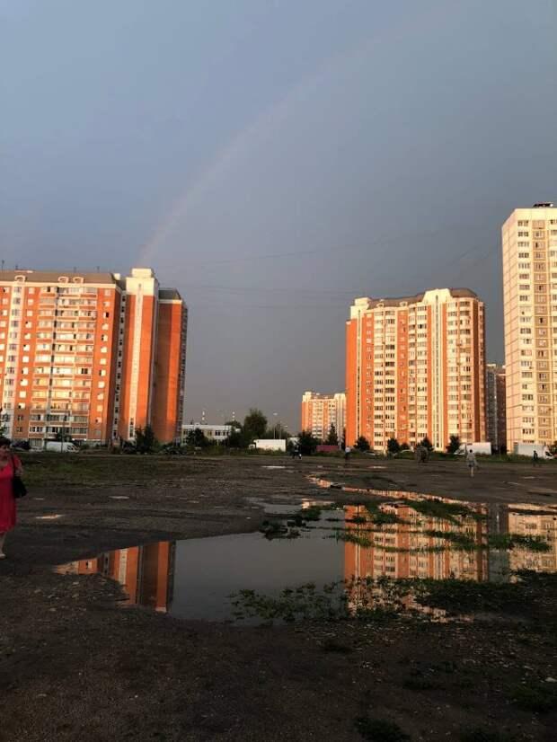 Фото дня: радуга над Долгопрудной аллеей