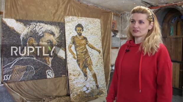 Картины и иконы Анны Солнечной из гальки (трафик)