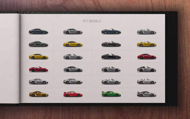 Porsche показала на видео все варианты 911-го
