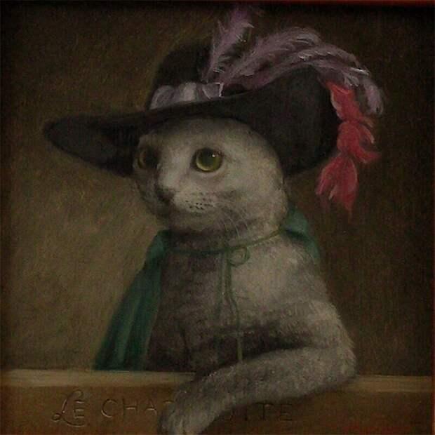 Коты-короли вработах талантливого японского художника Токухиро Каваи