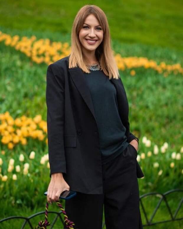 Леся Никитюк побывала на презентации коллекции одежды от Андре Тана и Екатерины Осадчей