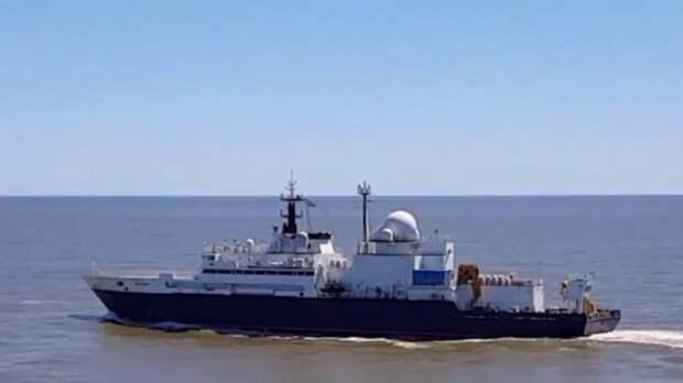 Великобритания считает российский корабль «Янтарь» угрозой подводным кабельным коммуникациям