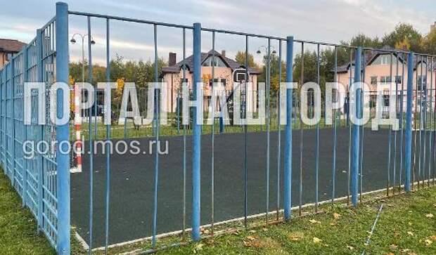 На спортплощадке на улице Соколово-Мещерская появилась долгожданная разметка