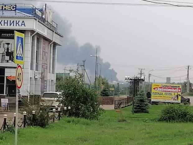 В Башкирии загорелся кирпичный завод