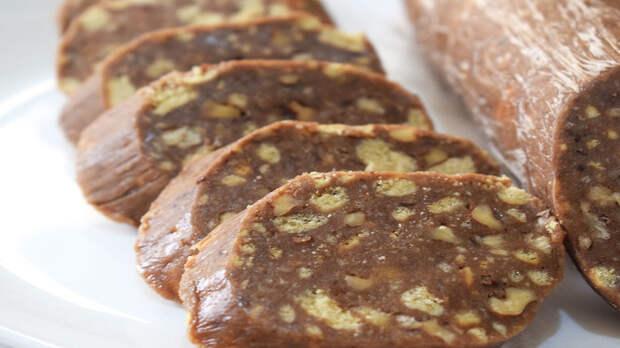 Сладкая колбаска - вкус детства. Sango Food, Видео, Видео рецепт, Длиннопост, Еда, Рецепт, Кулинария, Шоколадная колбаса