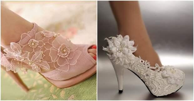 Стильные переделки с кружевом в руках: превращаем обычную обувь в дизайнерскую