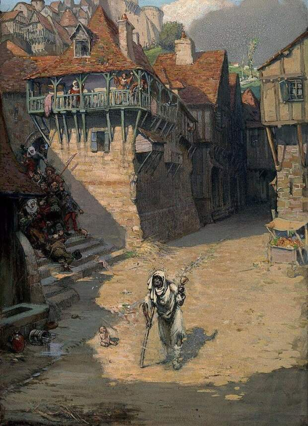 Сифилис, чума и другие напасти в жутких иллюстрациях начала XX века.