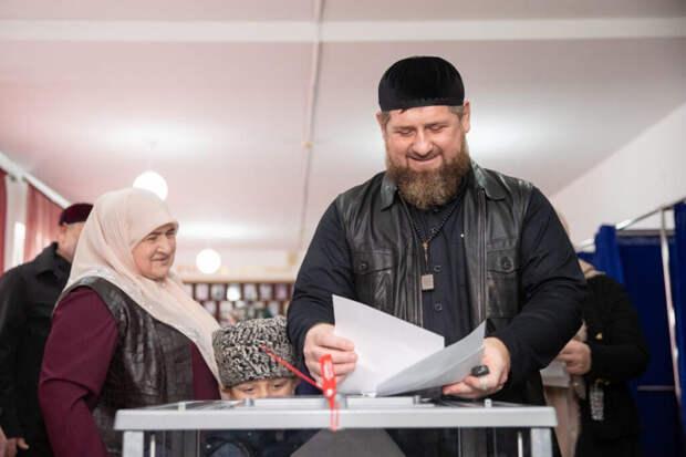 Кадыров набрал почти 100% голосов на выборах главы Чечни