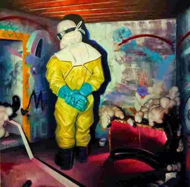 Колумбийский художник. Adrian Caicedo
