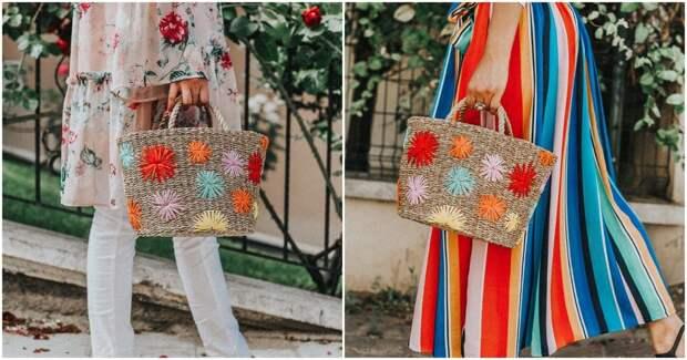 Яркая плетеная сумочка как из дорогого магазина своими руками