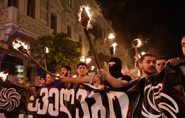 Грузинские националисты. Фото из открытых источников