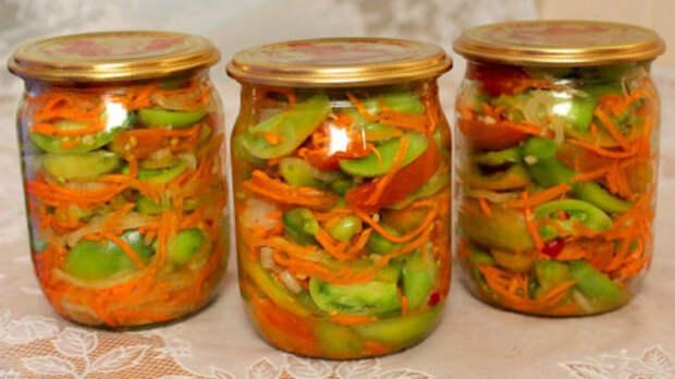 Рецепт вкусного салата по-корейски из зеленых помидоров