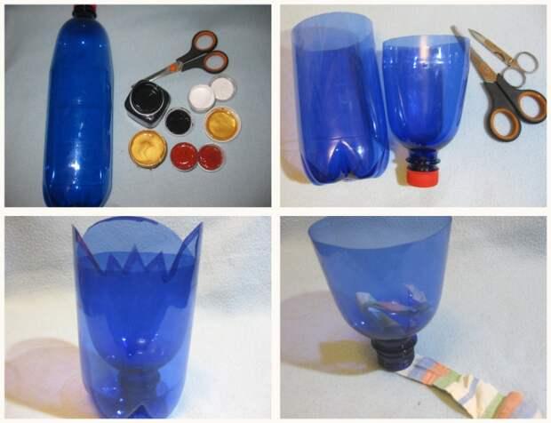 Пластиковое кашпо для цветов – 5 оригинальных идей из подручных материалов