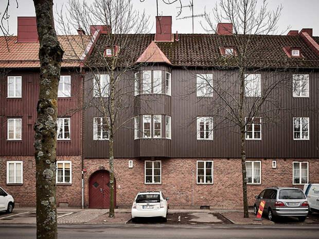 Кирпичная стена и нежный интерьер: квартира в здании 1915 года в Гётеборге (66 кв.м)
