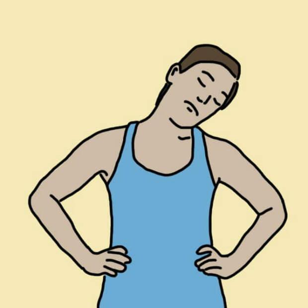 Упражнение №2: Повороты шеи работа, советы