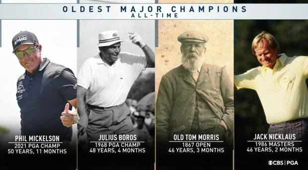 50-летний Фил Микелсон стал самым возрастным чемпионом за всю историю «мэйджоров»