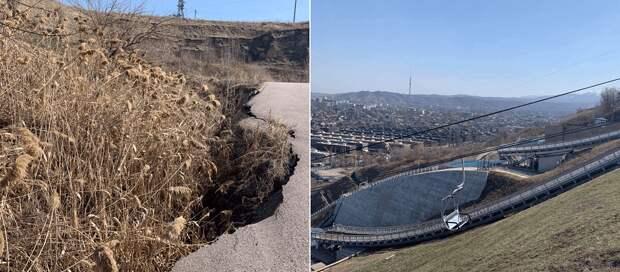 Склоны над «Есентай-сити» в Алматы после сообщения о возможной опасности обещают укрепить