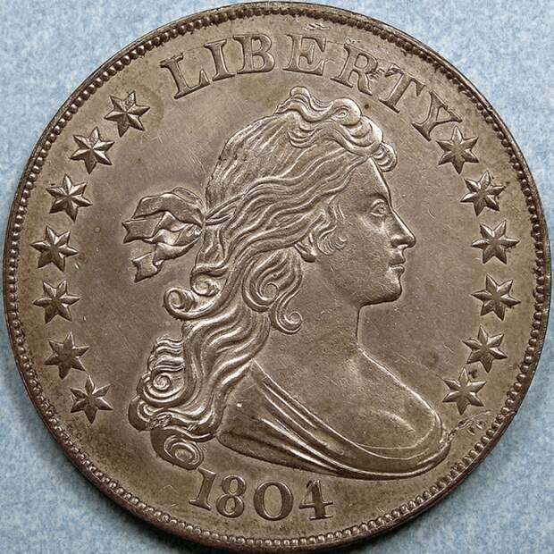 Серебряный доллар (США, 1804).