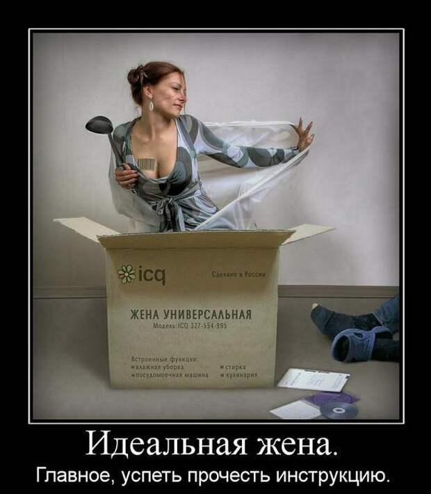 Веселые демотиваторы про девушек и женщин (11 фото)
