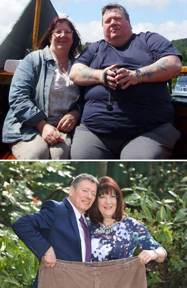 Эта пара похудела на 124 кило  диета, лишний вес, похудение