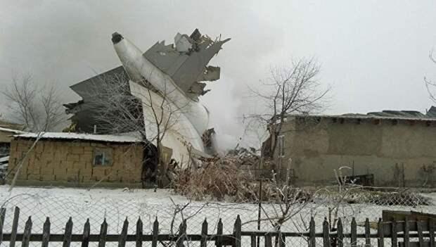 Крушение грузового Boeing 747 под Бишкеком