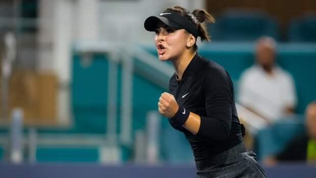 Андрееску вдвух тай-брейках победила Саккари ивышла вфинал турнира вМайами