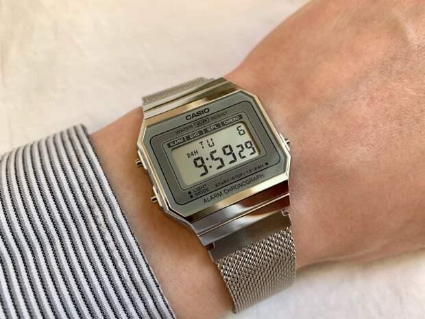 Самые тонкие электронные часы от Casio, всего 6 миллиметров! Обзор модели A700WEM