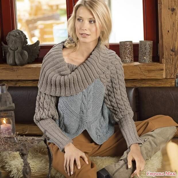 Оригинальные пуловеры: 5 интересных моделей с описанием и схемами (1/2)