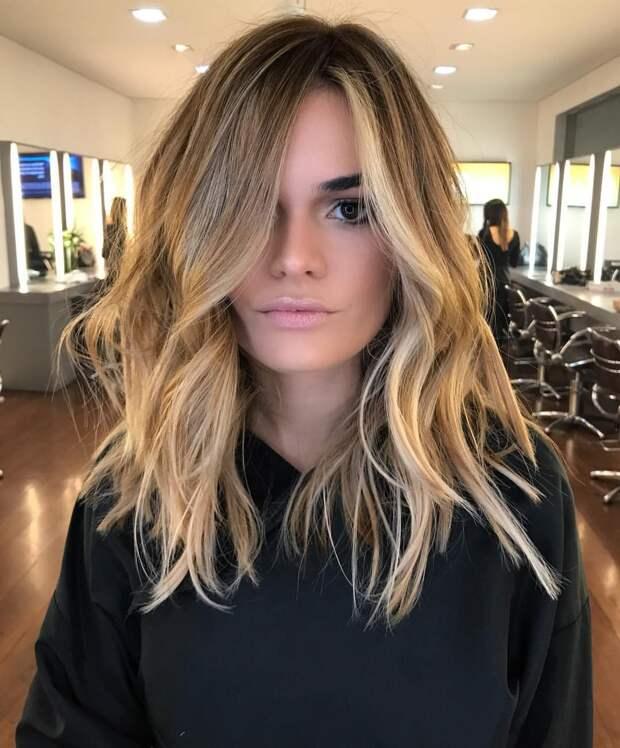 Балаяж на средние волосы: фото 2