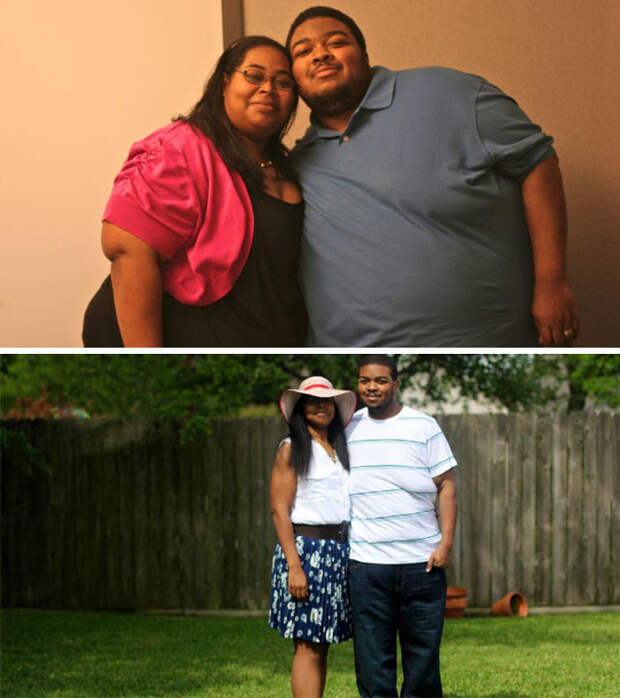 А эта пара за два года рассталась с 226 кило! диета, лишний вес, похудение