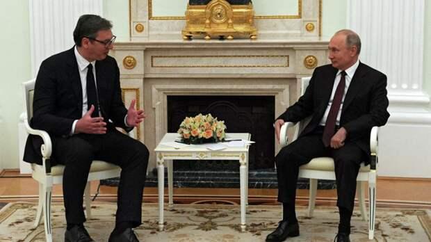 Вучич проинформировал Путина о переговорах в Вашингтоне и Брюсселе