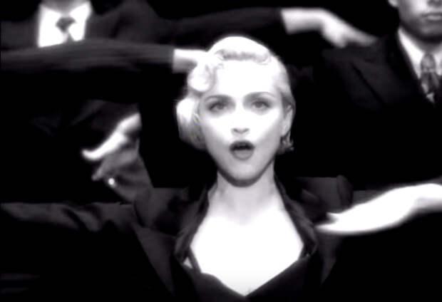 Кадр из видеоклипа Мадонны Vogue